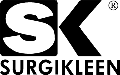 Surgikleen black and white logo with registered trademarkfpr site link