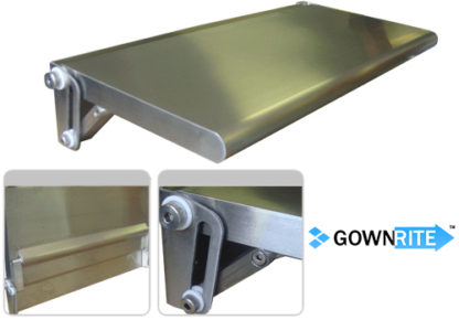 GownRite™ Stainless Steel Wall-Mounted Folding Table details