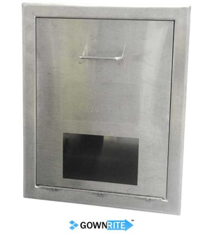 GownRite™ Stainless Steel Gowning Room In-Wall Shoe Cover Dispenser Storage Cabinet alternate view