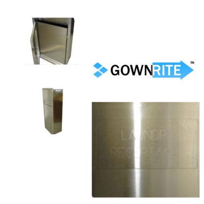GownRite™ Stainless Steel Clean Room Lockable Laundry Bin detail view