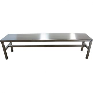 GownRite™ Stainless Steel Heavy Duty Gowning Bench for donning gowning room apparelot Rest for donning gowning room apparel