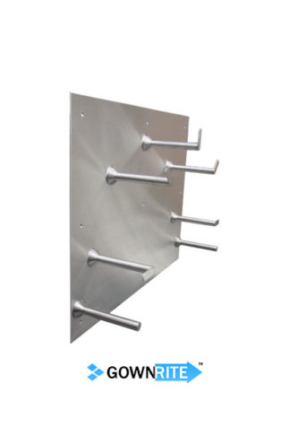 GownRite™ Stainless Steel Wall-Mounted Hose Rack