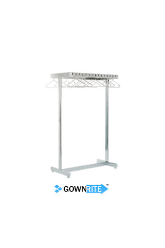GownRite™ Stainless Steel Clean Room Garment Rack front view
