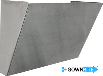 GownRite™ Stainless Steel Hanging File Folder Bin front view