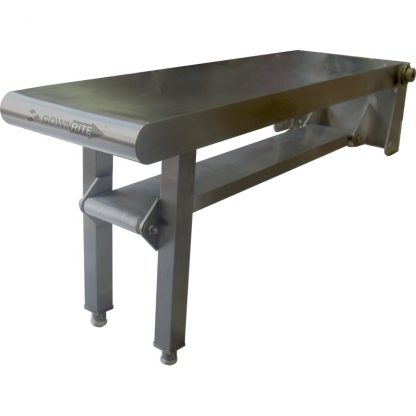 Front and right side view of GownRite Stainless Steel Gowning Room Folding Bench