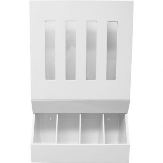 GownRite™ Polypropylene 4 Tier Dispenser with Viewing Windows shown from front